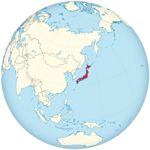 Japan on the globe (de-facto) (Japan centered).png