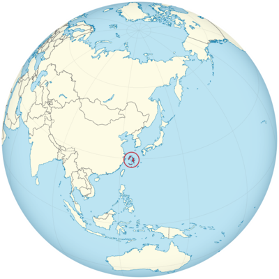 Quelpartia on the globe (Japan centered).png